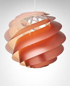 Swirl 3 Large Pendant Light - Copper