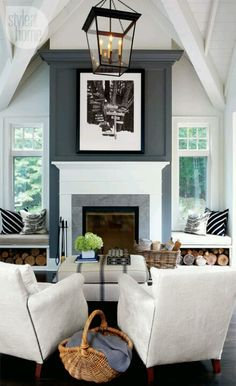 accent wall with Fireplace