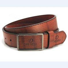 cinturón de cuero nuevo hebilla de metal de la manera de imitación de los hombres (4 colores) - MXN $ 127.28