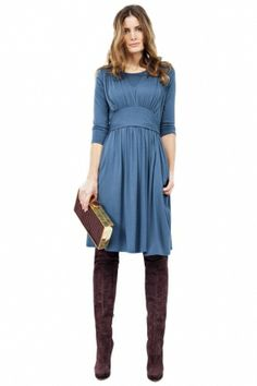 The Marilyn Mid-sleeve Breastfeeding Dress by Peaks of London wear it and show everyone that the street is your catwalk! www.blushandbloom.com