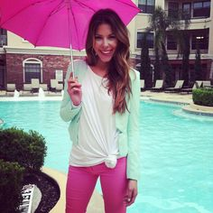 Mint Blazer and Hot Pink Pants