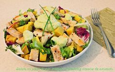 Dressing, Cobb Salad, Cantaloupe, Mango, Fruit, Food, Salads, The Fruit, Meals