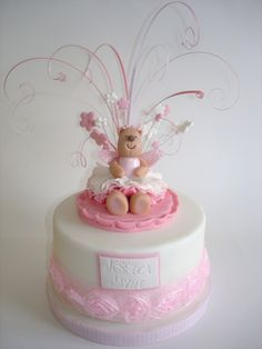 Love the sprays coming out of the top. Fondant Cake Toppers, Cupcake Cakes, Kid Cakes, Cupcakes, Peony Cake, Gorgeous Cakes, Amazing Cakes, Teddy Bear Cakes, Fancy Cakes