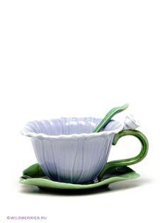 Чайная пара с ложечкой, Pavone на Маркете VSE42.RU Tea Cups, Tableware, Dinnerware, Tablewares, Dishes, Place Settings, Cup Of Tea