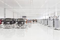 inside look at McLaren automotive's production center in woking, UK