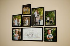 Picture frame hanging made easy - great idea!