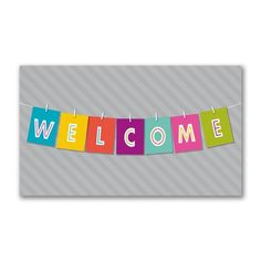 Think about all the uses for these friendly greeting cards like welcoming new employees to your business or introducing your business to new residents in the neighborhood! Made from recycled paper by manufacturers using renewable energy sources. Welcome New Employee, Renewable Sources Of Energy, Welcome Banner, How To Introduce Yourself, Digital Ink, Types Of Printing, Greeting Cards, Envelope, Stationery