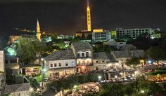 Mostar, Bosnia and Hercegovina, Stari Grad, Old Town,My home town, By night