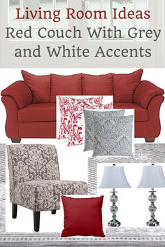Red Sofa Design Living Room Curtains Idea How To Decorate A With Couch Coupon Karma Ideas Grey And White Accents Home Decor Inspiration Www Homedecormuse Com
