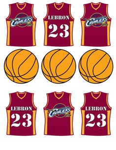 Cleveland Cavaliers basketball birthday party by DecorAtYourDoor Basketball Cupcakes, Basketball Birthday Parties, Baseball Birthday Party, Boy Birthday, Birthday Cakes, Birthday Ideas, Basketball Anime, Basketball Videos, Love And Basketball
