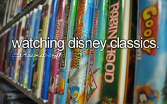 watching disney classics