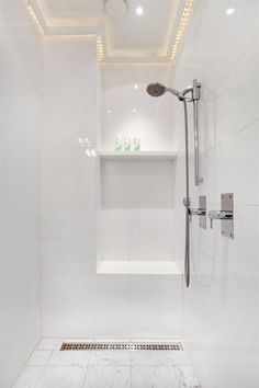white shower