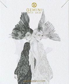 kelly smith illustration & samantha wills jewelry // gemini. #gemini #astrology #zodiac