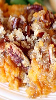 Sweet Potato Souffle Traditional sweet potato casserole with brown sugar pecan topping is my all-time-favorite Thanksgiving side dish! Sweet Potato Side Dish, Sweet Potato Pecan, Sweet Potato Recipes, Thanksgiving Side Dishes, Thanksgiving Recipes, Holiday Recipes, Thanksgiving Leftovers, Potatoe Casserole Recipes, Sweet Potato Casserole