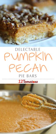 Our favorites for the season are old standards, pumpkin pie and pecan pie, but we hate having to choose between them, so we wanted to come up with a way to combine the two and get the best of both worlds!