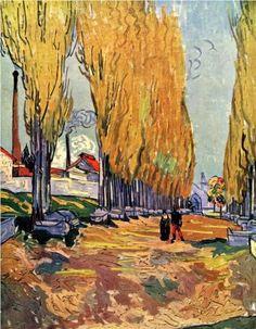 Les Alyscamps 1888. Vincent Van Gogh