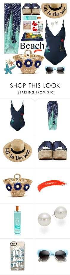 """Sun's Out: Beach Day"" by hamaly ❤ liked on Polyvore featuring STELLA McCARTNEY, Muzungu Sisters, Topshop, AK Anne Klein, Casetify, ZeroUV, Dolce&Gabbana, Polaroid, outfit and beachday"