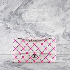 Chanel Classic Sequin and Embroidery Flap Bag | Silver & Pink | 16 x 26 x 7 cm | Cruise 15/16 | Available Now  For purchase inquiries, please contact sales@shayyaka.com or +961 71 594 777 ( SMS, WhatsApp, or iMessage) or Direct Message on Instagram (@Shayyaka). Guaranteed 100% Authentic | Worldwide Shipping | Bank Transfer or Credit Card