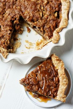 This is similar to that of a pecan pie except filled with butterscotch filling and the apples and walnuts float to the top instead of pecans.