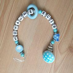 İsimli emzik zinciri özel tasarım bebek