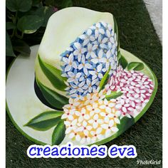 Painted Hats, Painted Clothes, Hand Painted, Hobbies And Crafts, Diy And Crafts, Easter Pictures, Summer Accessories, Tole Painting, Summer Hats