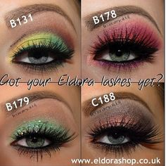 Eyelashes  colorful eye make-ups