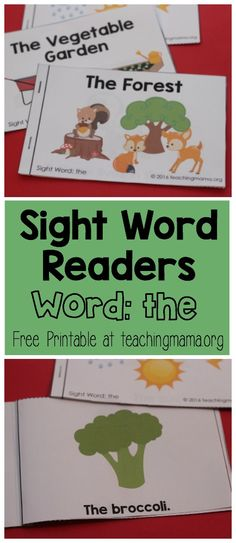Last week I shared my first sight word readers with you all and I loved how excited you were about this series! It makes me so happy to know that these will help your little ones out. Today I'm shari Pre Reading Activities, Sight Word Activities, Kindergarten Reading, Beginning Reading, Word Reading, Sight Word Readers, Teaching Sight Words, Site Words, Reading Skills