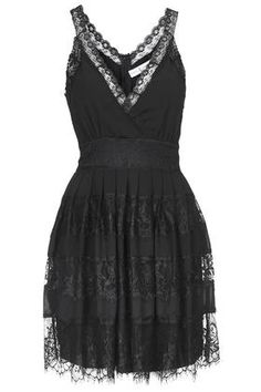 **Lace Panel Skater Dress by Rare