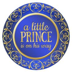 Blue Gold Prince Boy Baby Shower Paper Plates - baby gifts child new born gift idea diy cyo special unique design Baby Boy Shower, Baby Shower Gifts, Baby Showers, Princess Aurora, Blue Plates, Newborn Baby Gifts, Gold Gifts, Party Tableware, Baby Boutique