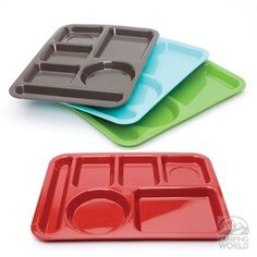 Cafeteria Trays- $50 for 12 of them why are people paying so much for childrens plates when you can get these!