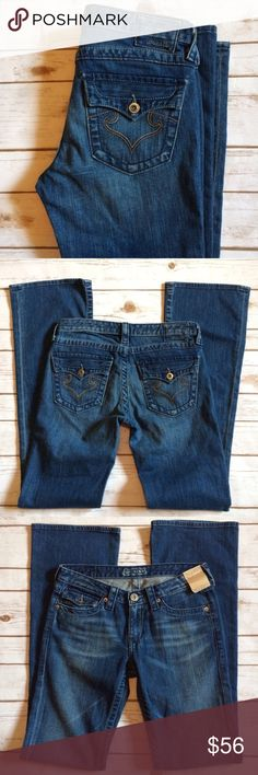 """NWT Embroidered Flap Pocket Flare Jeans - Big Star Big Star Jeans with embroidered back pockets with flaps.    🎀Condition: Brand New With Tags 🎀Wash: Medium Wash 🎀Fit: Flare, 9"""" 🎀Waist: 30"""" 🎀Inseam: 33"""" 🎀Front Rise: 7.5"""" 🎀Back Rise: 11.5"""" 🎀Fabric: 99% Cotton, 1% Spandex Big Star Jeans Flare & Wide Leg"""