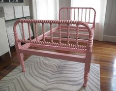 Made in the late 1800s, this twin spindle bed feels fresh thanks to the pink paint job. Pink Vintage Jenny Lind Spindle/Spool Bed_Twin — Best offer $500
