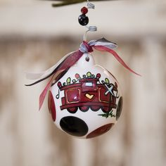 Glory Haus USC Christmas The Garnet Way Ornament | underthecarolinamoon.com #USC #Gamecock #Gamecocks #GamecockOrnament #USCOrnamnet #GH #GloryHaus #UTCM #UnderTheCarolinaMoon