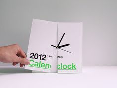 Antalis Calenclock 2012 by Ken Lo, via Behance