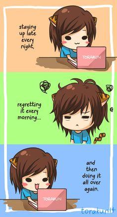 Torakun Comics :: Daily routine | Tapastic - image 1
