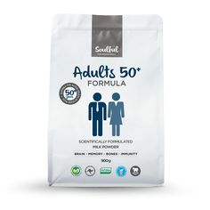 Scientifically formulated to support the nutritional needs of active Adults aged 50+ years and those entering the later stages of life. With 19 essential vitamins, minerals and amino acids, life'sDHA® and dietary fibre, Soulful Adults 50+ Formula provides a complete profile of key nutrients including key bone building nutrients to support an active lifestyle.