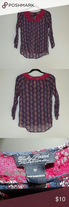 Lucky Brand sheer blouse This long sleeved blouse is in lovely condition with a vivid blue and red pattern Lucky Brand Tops Blouses - dress blouses for women, red silk blouse long sleeve, ladies white blouses *sponsored https://www.pinterest.com/blouses_blouse/ https://www.pinterest.com/explore/blouse/ https://www.pinterest.com/blouses_blouse/saree-blouse/ https://www.elietahari.com/shop/clothing/blouses