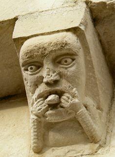medieval sculpture--and sense of humor, perhaps?