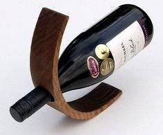Handcrafted Wood Wine Bottle Holder, Kitchen Decor, Bridal, Bridesmaid Gifts, Weddings, Home Decor
