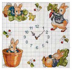 часы : Вышивка крестом по сказке Беатрикс Поттер
