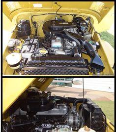 1976 Under Hood FJ40 2F Engine Bay
