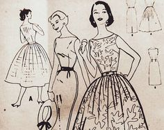 Vintage Pattern McCall's 4364 1950s 1960s by momandpopcultureshop