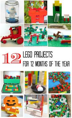 12 Lego Projects for 12 Months of the Year via Planet Smarty Pants