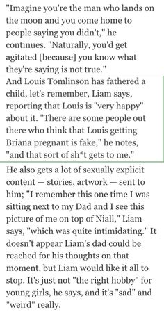 Liam Payne on Larry Stylinson and gay rumors that are associated with the band. Just Love, Let It Be, 1direction, Larry Stylinson, Liam Payne, Say You, One Direction, September, Gay