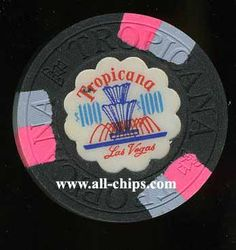 #LasVegasCasinoChip of the Day is a $100 Tropicana 2nd issue you can get here http://www.all-chips.com/ChipDetail.php?ChipID=13121 for $20 This is the very popular Fountain Issue. #CasinoChip #LasVegas #Tropicana