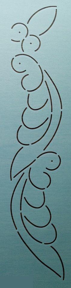 """Abigail Adams Border 3.5"""" - The Stencil Company"""