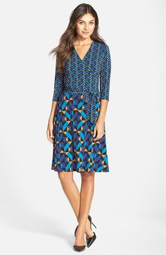 Leota Print Jersey Faux Wrap Dress available at #Nordstrom