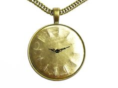handmade necklace made of old watch