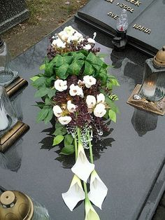 Grave Decorations, Table Decorations, Funeral Flowers, Fall Flowers, Floral Bouquets, Diy, Nails, Winter, Home Decor