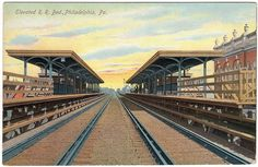 Excellent Colour Postcard Elevated Rail Road Bed Philadelphia Station U s A | eBay